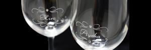 お名前・メッセージをシャンパン☆ワインにお入れしてあなただけの「世界で一つ」をお創りします。