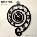 デザイナーズインテリア壁掛け時計  渦巻き(英訳:EDDY)をモチーフにしたデザインウォールクロックです。