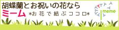 大切なあの方へ最高品質の胡蝶蘭を[フラワーギフト通販ミーム]全品包装・立札・送料無料♪