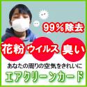 花粉・ウィルス・悪臭を99%除去-エアクリーンカード